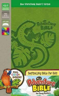 Holy Bible: New International Reader's Version, Jungle Green Italian Duo-Tone Adventure Bible for Early Readers (Paperback)