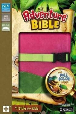 Adventure Bible: New International Version, Pink / Green Italian Duo-Tone, Clip Closure (Paperback)