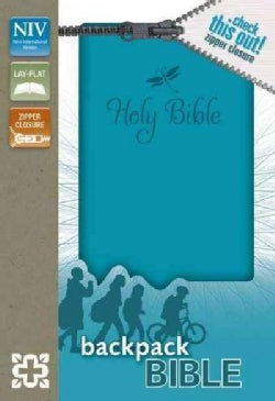 Holy Bible: New International Version Teal Italian Duo-Tone Zipper Closure Backpack Bible (Paperback)