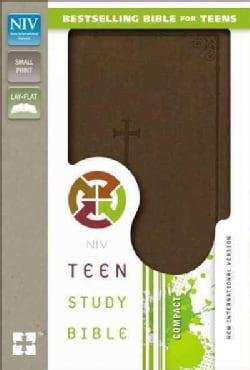 Holy Bible: New International Version, Chocolate, Italian Duo-Tone Teen Study  (Paperback)