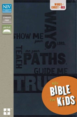 Holy Bible: New International Version, Slate Blue, Italian Duo-Tone, Bible for Kids (Paperback)