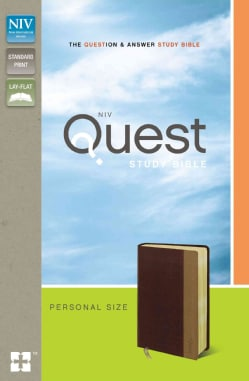 Quest Study Bible: New International Version, Burgundy/Tan, Italian Duo-Tone, The Question & Answer Bible (Paperback)