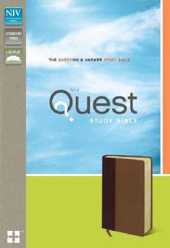 Quest Study Bible: New International Version, Burgundy/ Tan, Italian Duo-tone, the Question & Answer Study Bible (Paperback)