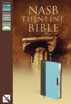 Holy Bible: New American Standard Bible Chocolate / Turquoise Italian Duo-Tone Thinline (Paperback)
