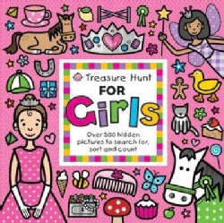 Treasure Hunt for Girls: Over 500 Hidden Pictures to Search For, Sort and Count (Board book)