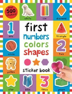 First 100 Numbers, Colors, Shapes Sticker Book (Paperback)