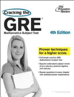 Cracking the GRE Mathematics Subject Test (Paperback)
