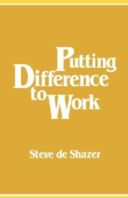 Putting Difference to Work (Paperback)