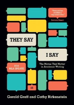 They Say / I Say: The Moves That Matter in Academic Writing: 2016 Mla Update (Paperback)