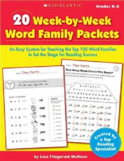 20 Week-by-Week Word Family Packets: Grades K-2 (Paperback)