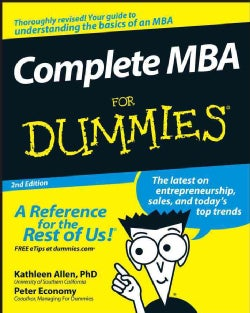 Complete MBA for Dummies (Paperback)