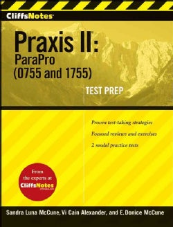 Cliffsnotes Praxis II: Parapro 0755 and 1755 (Paperback)