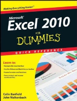 Excel 2010 For Dummies Quick Reference (Paperback)