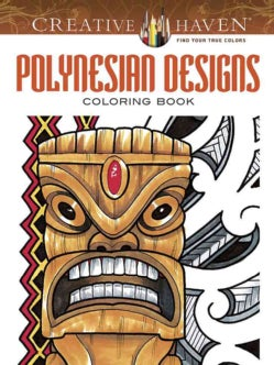 Polynesian Designs Adult Coloring Book (Paperback)