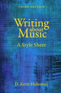 Writing About Music: A Style Sheet (Paperback)