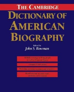 The Cambridge Dictionary of American Biography (Hardcover)