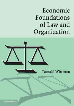 Economic Foundations of Law And Organization (Paperback)