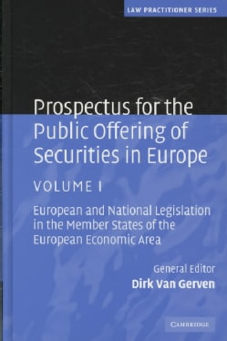 Prospectus for the Public Offering of Securities in Europe (Hardcover)