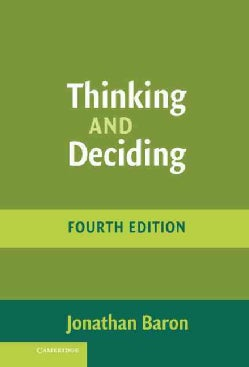 Thinking and Deciding (Hardcover)