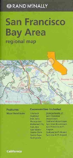 Rand Mcnally San Francisco Bay Area: Regional Map (Sheet map, folded)