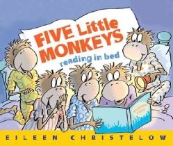 Five Little Monkeys Reading in Bed (Paperback)