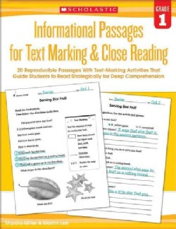 Informational Passages for Text Marking & Close Reading, Grade 1 (Paperback)