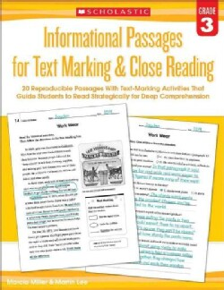 Informational Passages for Text Marking & Close Reading: Grade 3 (Paperback)