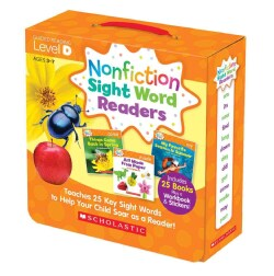 Nonfiction Sight Word Readers Level D, Ages 3-7: Teaches 25 Key Sight Words to Help Your Child Soar As a Reader!