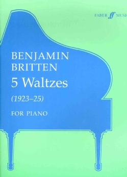 Five Waltzes Walztes: For Piano (1923-5) (Paperback)