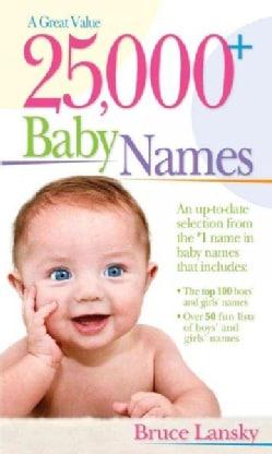 25,000+ Baby Names (Paperback)