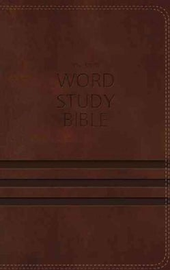 NKJV Word Study Bible: New King James Version, Brown, Leathersoft (Paperback)
