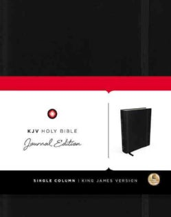 Holy Bible: King James Version, Black, Journal Edition (Hardcover)