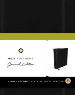 NKJV Holy Bible: New King James Version, Black, Journal Edition (Hardcover)