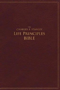 Holy Bible: New International Version, the Charles F. Stanley Life Principles Bible, Burgundy, Imitation Leather (Paperback)