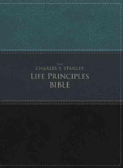 The Charles F. Stanley Life Principles Bible: New International Version, Green/black, Imitation Leather (Paperback)