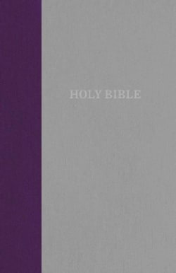 The Holy Bible: King James Version, Purple/Gray, Thinline Bible, Standard Print, Red Letter Edition (Hardcover)
