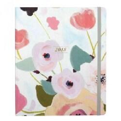 Painted Petals 2018 17-Month Agenda (Calendar)