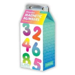 Rainbow 123 Wooden Magnetic Numbers (Toy)