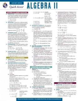 Algebra II: REA Quick Access Fast Facts Review (Cards)