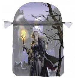 Witches Moon Satin Tarot Bag (Paperback)