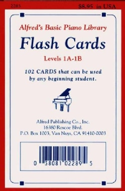Alfred's Basic Piano Library Flash Cards Levels 1A-1B (Cards)