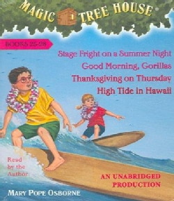 Magic Tree House Collection 7 Books 25-28: Stage Fright on a Summer Night/Good Morning, Gorillas/Thanksgiving on T... (CD-Audio)