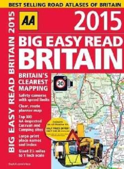 AA 2015 Road Atlas Big Easy Read Britain (Paperback)