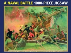 A Naval Battle 1000-Piece Jigsaw: The English Navy Conquering a French Ship Near the Cape Camaro, c. 19... (General merchandise)