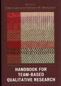 Handbook for Team-Based Qualitative Research (Hardcover)