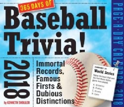 A Year of Baseball Trivia! Page-a-Day 2018 Calendar (Calendar)