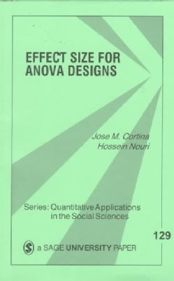 Effect Size for Anova Designs (Paperback)