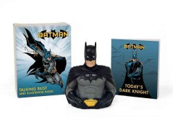 Batman Illustrated Book and Talking Bust