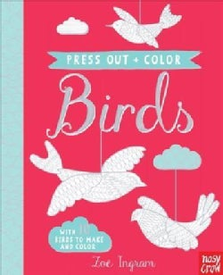 Press Out and Color Birds (Hardcover)