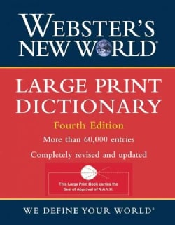Webster's New World Large Print Dictionary (Hardcover)